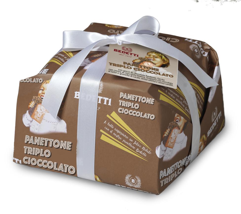 Panettone triplo cioccolato Bedetti Natale 2019