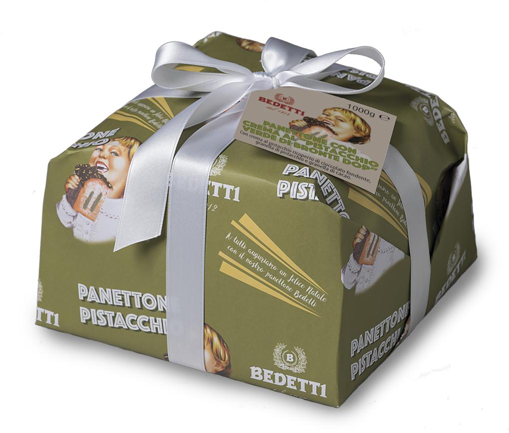 Panettone pistacchio Bedetti Natale 2019
