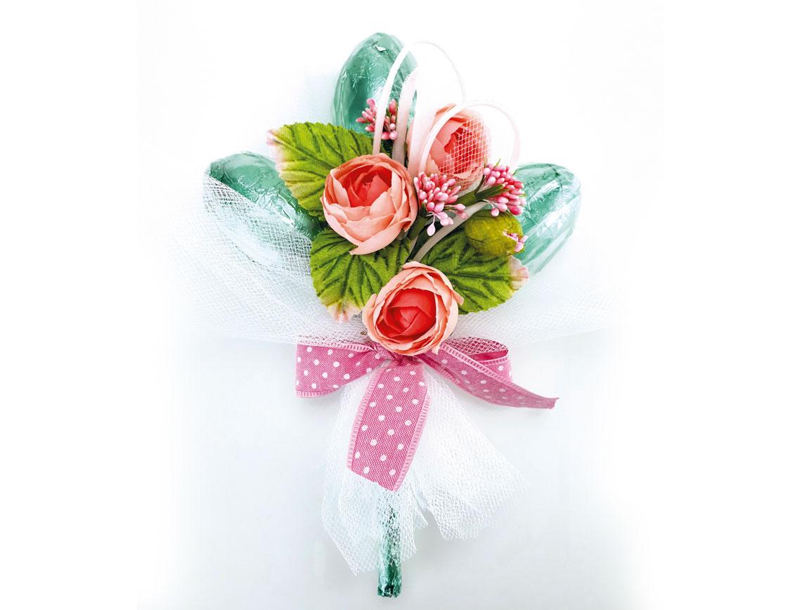 Mazzolino cioccolato al fondente: colore carta stagnola verde