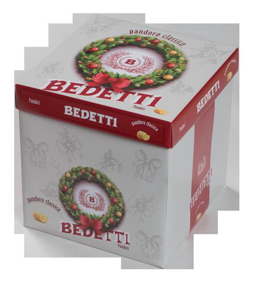 Panettone torrone incartato Bedetti