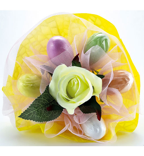 Mazzolino uova confettate giallo