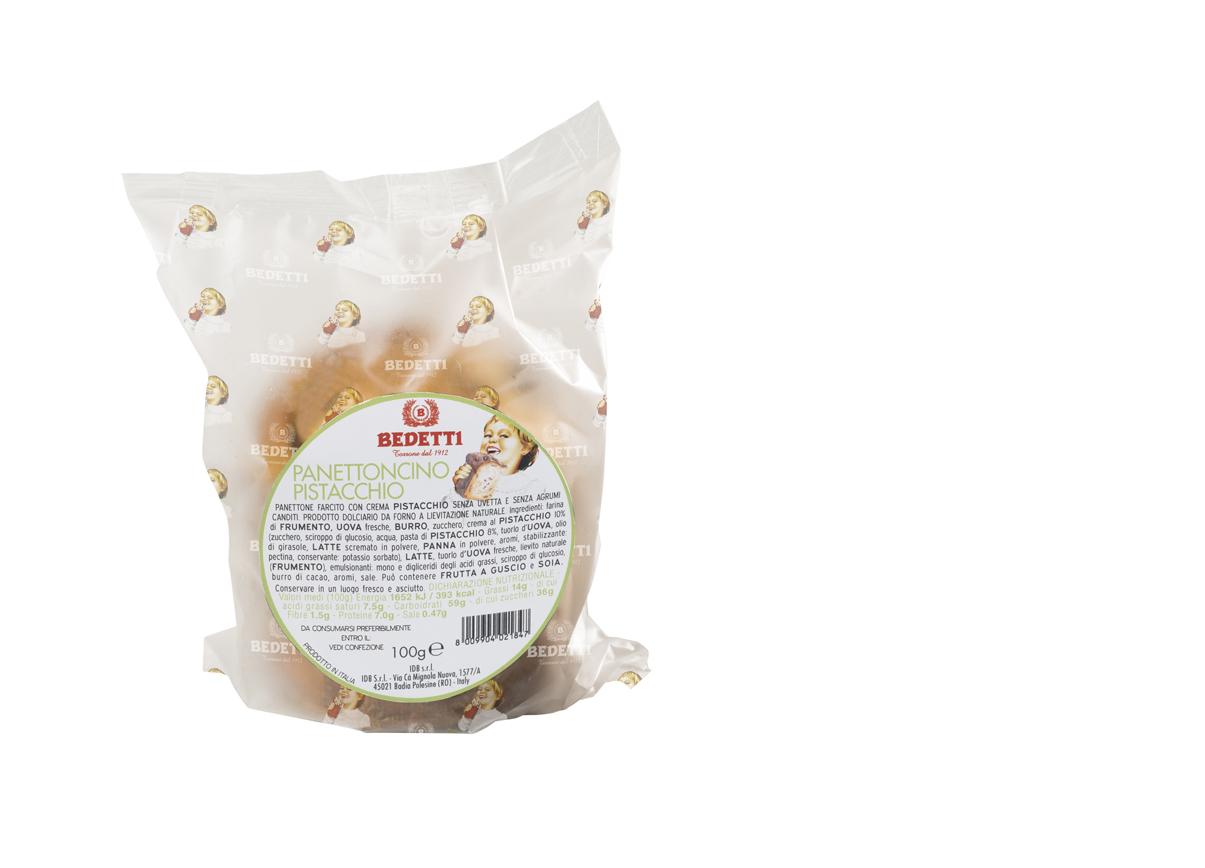 Panettone farcito al pistacchio