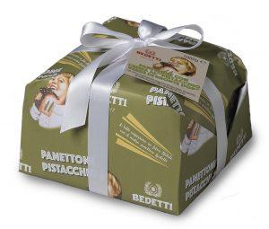 Panettone crema pistacchio verde di bronte dop Bedetti INcancellabile